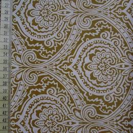 šatovka - bílé ornamenty na zlaté - zvìtšit obrázek