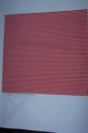povlak 40x40 - bíloèervené pruhy