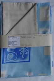 ložní povleèení -žlutý damašek s modrým bavlnìným tiskem