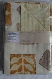 ložní povleèení - žlutý damašek s hnìdými listy