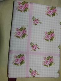 textilní obal na knihu -rùžièky 16x22cm