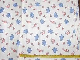 bavlnìný tisk - sloni a žirafy na smetanové
