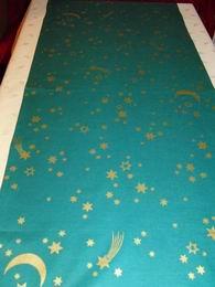 vánoèní ubrus - hvìzdièky na zelené145x45cm