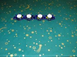 vánoèní ubrus - hvìzdièky na zelené 145x120