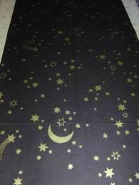 vánoèní ubrus - hvìzdièky na hnìdé 150x45cm