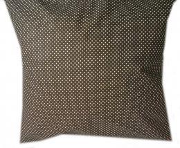 povlak na polštáøek - bílý puntíèek na tmavì hnìdé