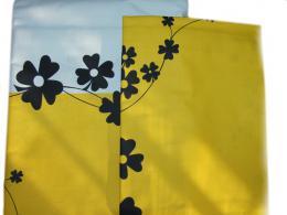 Ložní povleèení - èerné kvìty na žluté