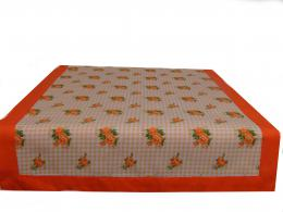 Ubrus pruh - oranžové rùžièky 140 x 45