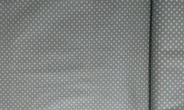 Bavlnìný tisk - šedý puntík