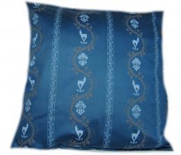 povlak na polštáøek - satén modrý se srneèky