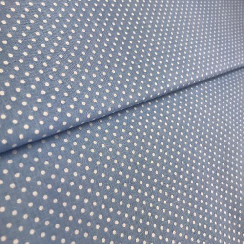 Bílý puntík na modré