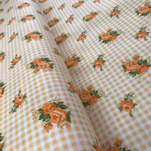 Diana - rùžièky na kostièce - žlutooranžová