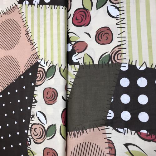 Bavlnìný tisk - patchwork, záplaty