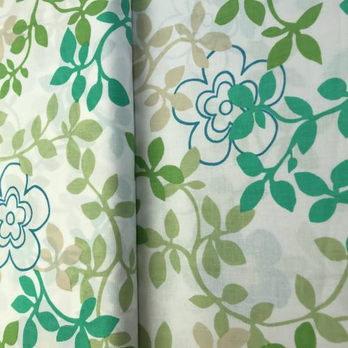Diana- zelenomodrý kvìtinový vzor na bílé