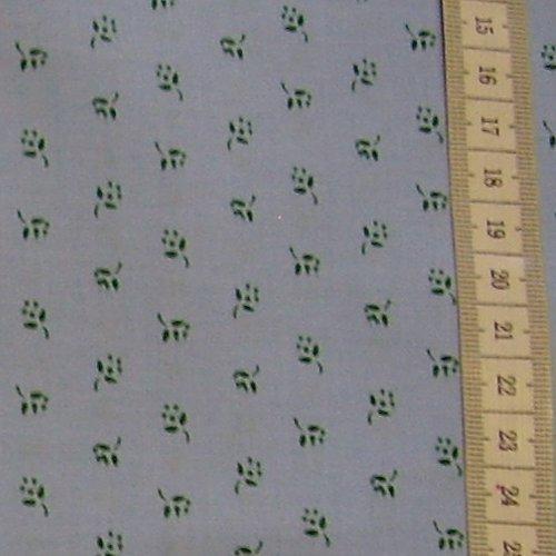 prádlovka - tmavìzelené kytièky na svìtle modré - zvìtšit obrázek