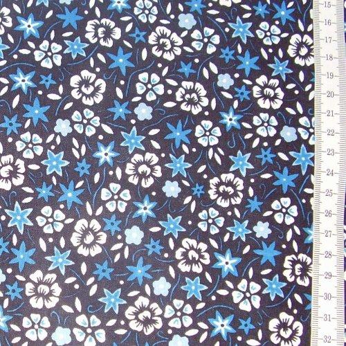 Diana - modrobílé kytièky na tmavì modré - zvìtšit obrázek