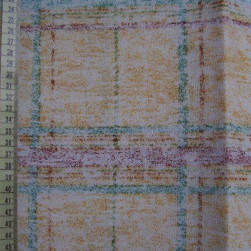 šatovka - modré ètverce na okrové - zvìtšit obrázek