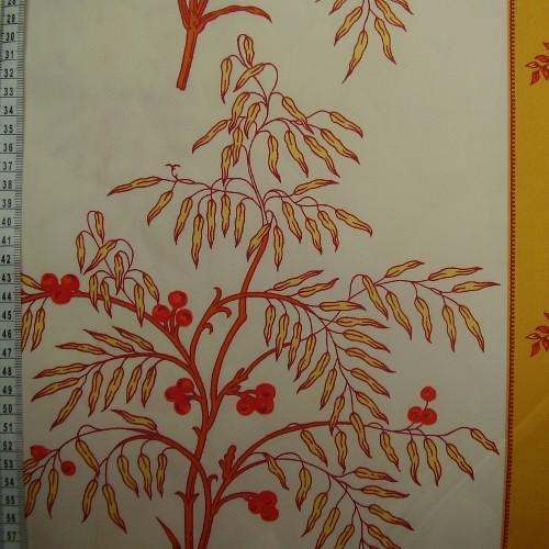 Bavnìný satén -strom na bílé a žluté - zvìtšit obrázek