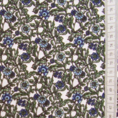 Mirka - modré kytièky na bílé - zvìtšit obrázek