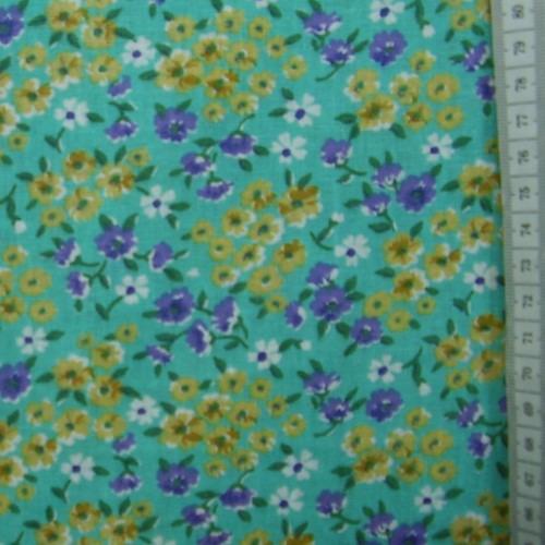 Mirka - žlutomodré kytièky na azurové - zvìtšit obrázek