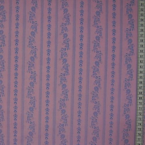 Aruna - modré vzory na rùžové v pruzích - zvìtšit obrázek