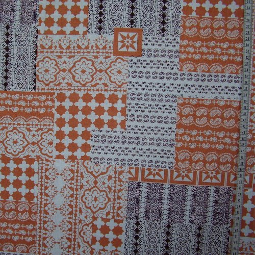 Mirka - patchworkový skoøicovohnìdobílý vzor - zvìtšit obrázek
