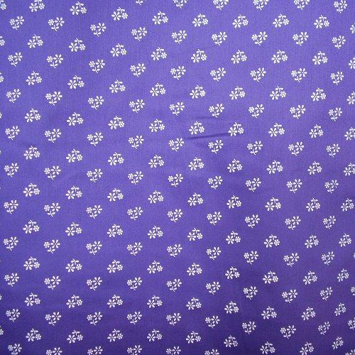 Satén - bílá kvítka na fialové - zvìtšit obrázek