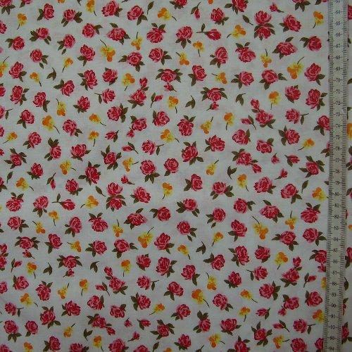 Diana - drobné èervené rùžièky a žluté macešky - zvìtšit obrázek