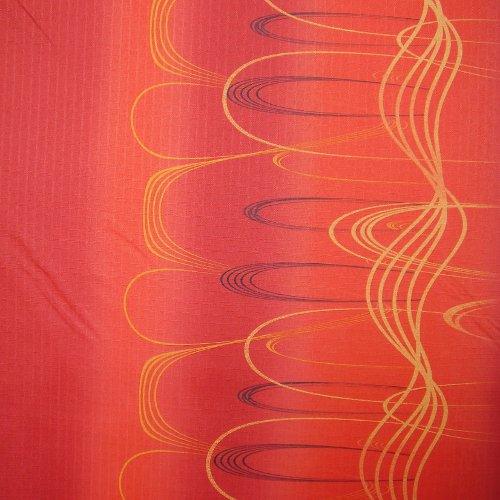 Ordan - cihlovì èervená  se žlutými vlnami - zvìtšit obrázek