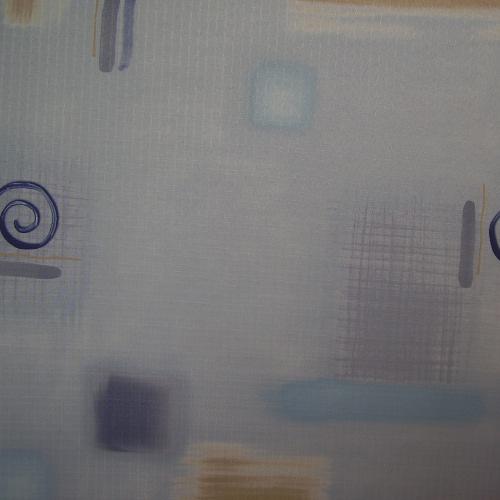 Ofdan - spirálky na šedomodré - zvìtšit obrázek