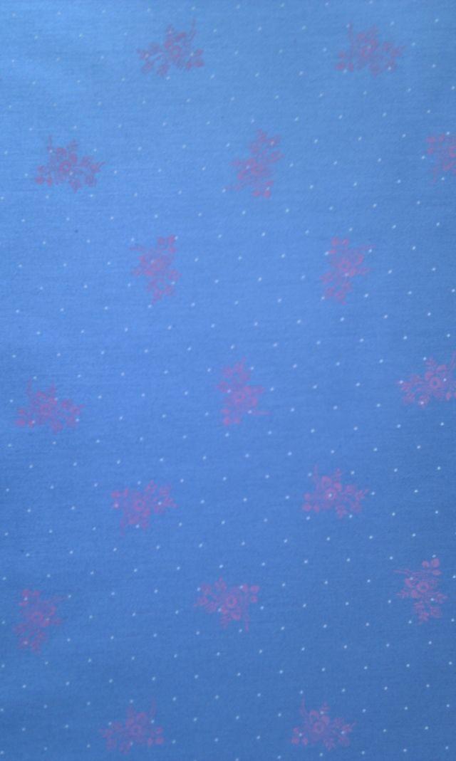 Rùžové kytièky na modré - zvìtšit obrázek
