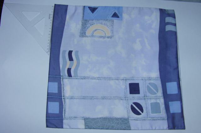 povlak satén - vlny a rùzné tvary na modré - zvìtšit obrázek