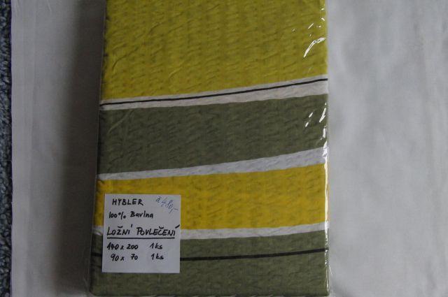 ložní povleèení - krep žlutozelený - zvìtšit obrázek