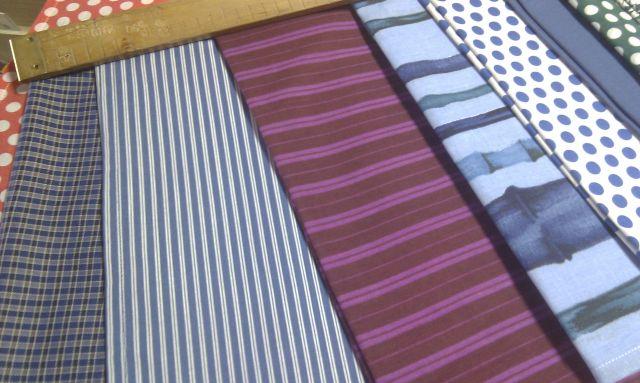 šátek - modrobílý proužek - zvìtšit obrázek