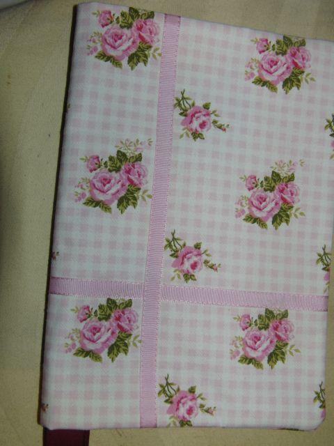 textilní obal na knihu -rùžièky 16x22cm - zvìtšit obrázek