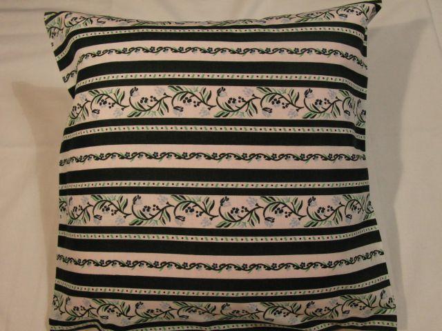 bavlnìný tisk - borùvkové kytièky v zelených pruzích - zvìtšit obrázek