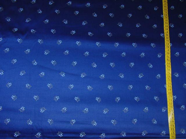 satén - kytièka na tmavì modré - zvìtšit obrázek