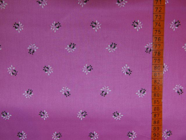 satén - kytièky na rùžové - zvìtšit obrázek