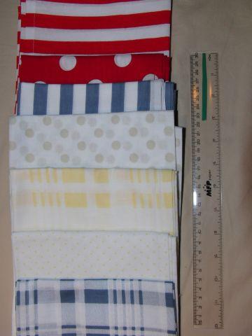 šátek - žluté kostky na bílé - zvìtšit obrázek