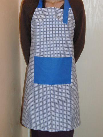 Zástìra dámská - modrobílá - zvìtšit obrázek