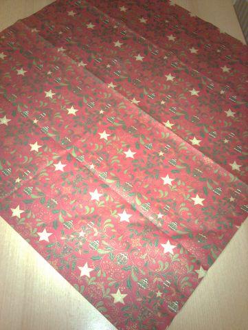 vánoèní ubrus - èervenozelenozlatý 70x70cm - zvìtšit obrázek