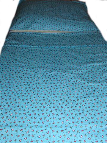 ložní povleèení - deštníèky na modré - zvìtšit obrázek
