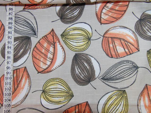 oranžové listy na šedé - zvìtšit obrázek