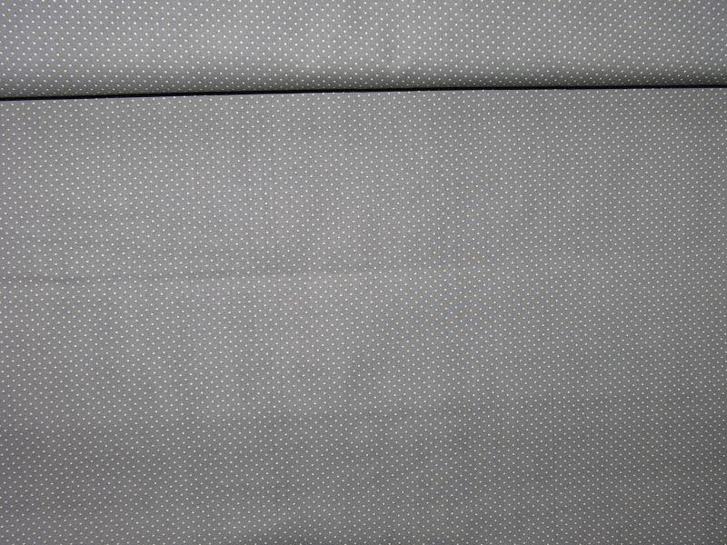 Bavlnìný tisk - puntíèky šedá - zvìtšit obrázek