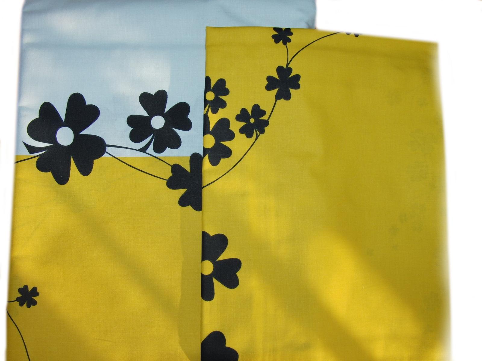 Ložní povleèení - èerné kvìty na žluté - zvìtšit obrázek