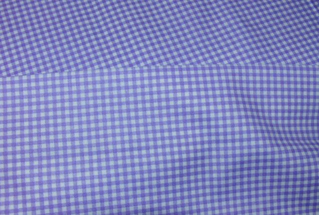 Bavlnìný tisk - fialovobílé kostièky - zvìtšit obrázek