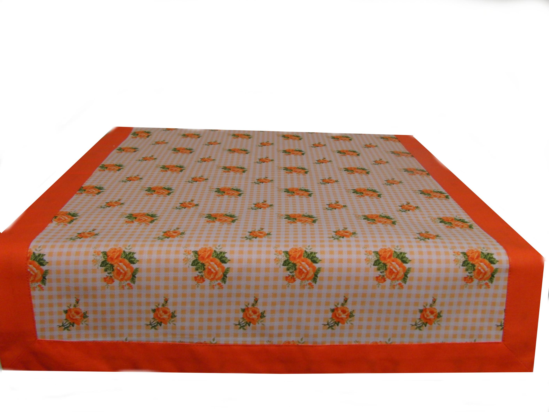 Ubrus pruh - oranžové rùžièky 140 x 45 - zvìtšit obrázek