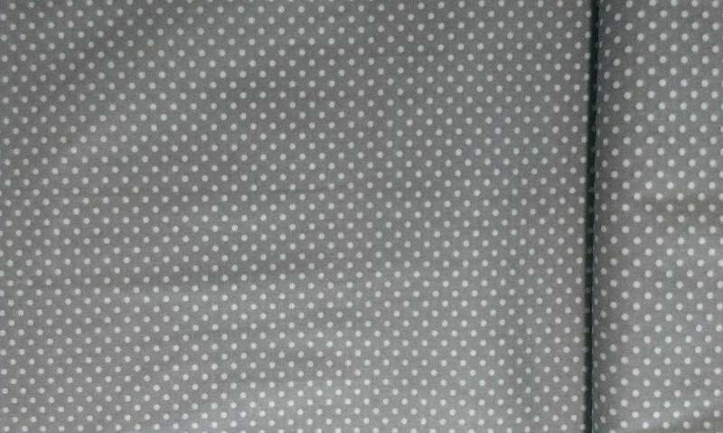 Bavlnìný tisk - šedý puntík - zvìtšit obrázek