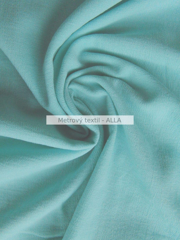 Bavlna s elastenem - kreš svìtle azurová - zvìtšit obrázek