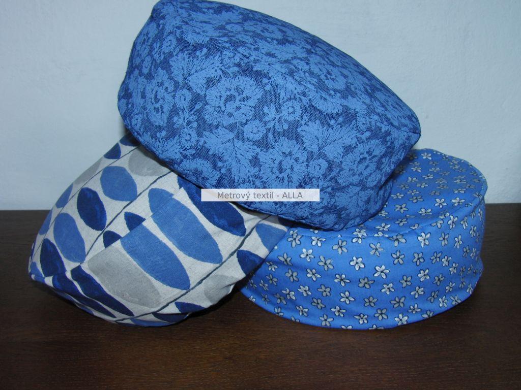 Pohankový podsedák - meditaèní polštáøek s povlakem -modré: prùmìr - 30cm a výška 12cm - zvìtšit obrázek